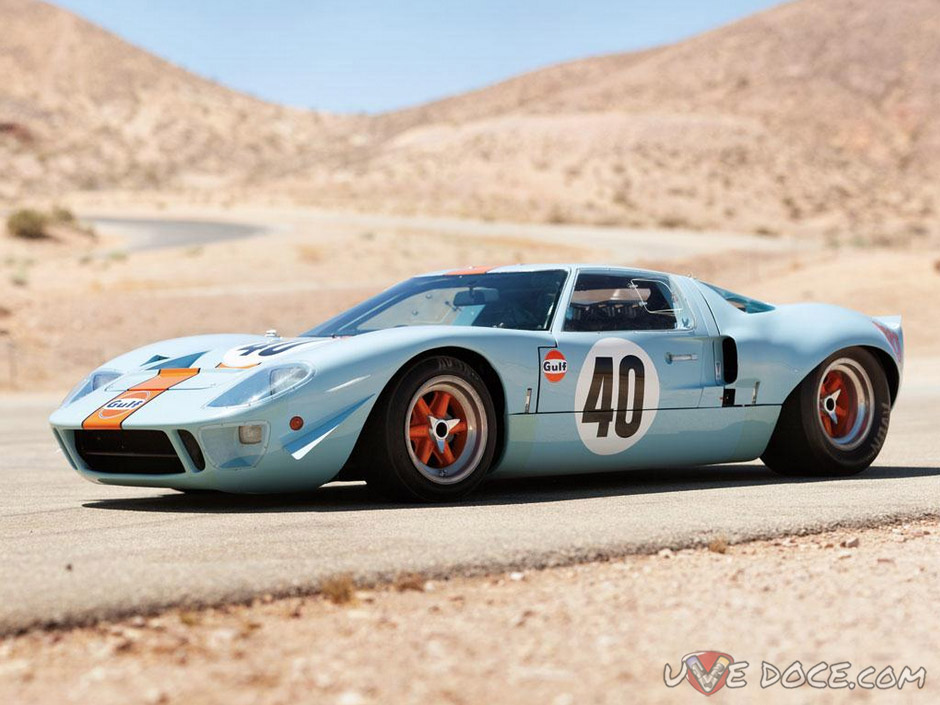 Ford GT40 Gulf_Mirage Lightweight Racing Car 1968